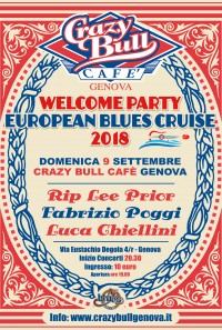 OPENING PARTY PER L'EUROPEAN BLUES CRUISE 2018