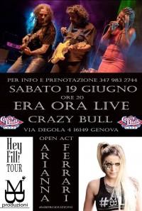 Era Ora & Arianna Ferrari @ live Crazy Bull cafè Genova