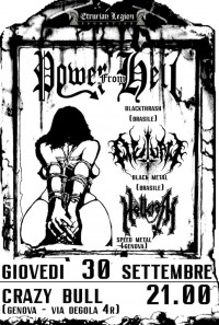 POWER FROM HELL + OUTLAW + HELLCRASH +TBA @ Crazy Bull
